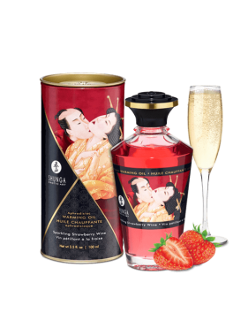 Aphrodisiac warming oil - Sparkling Strawberry Wine