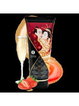 Creme de Massage delectable - Vin pétillant à la fraise