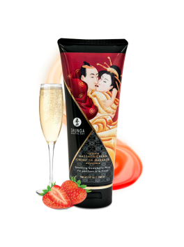 Kissable massage cream - Sparkling Strawberry Wine