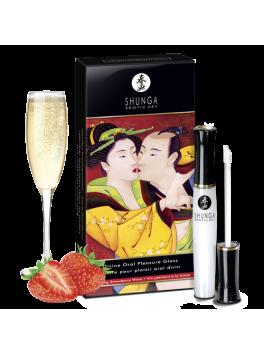 Gloss pour plaisir oral divin - vin pétillant fraise shunga