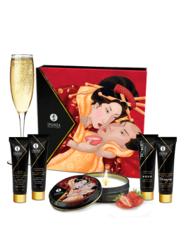 Kit Geisha's Secrets - Sparkling strawberry wine Shunga