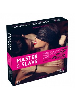 Master and Slave Purple Premium - KIT BDSM - Tigerprint Purple