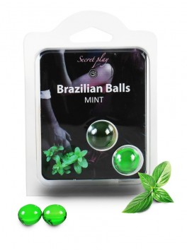 Brazilian balls Boules bréziliennes de massage erotique à la menthe