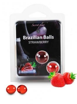 Brazilian balls Boules bréziliennes de massage à la fraise