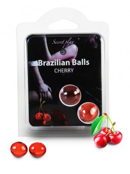 Brazilian balls Boules bréziliennes de massage erotique à la cerise