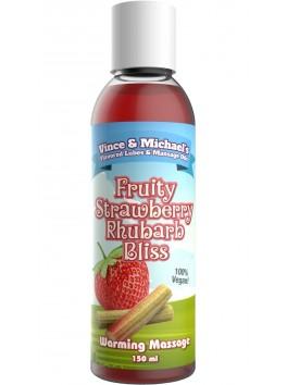 Huile Chauffante V&M Saveur Fraise Rhubarbe - 150 ml