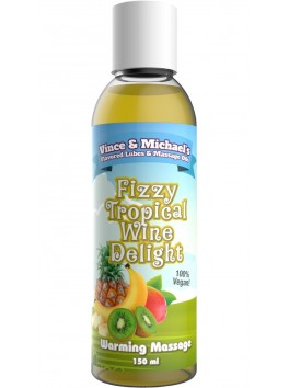 Warming oil V&M Fizzy Tropical Wine Delight - 150 ml