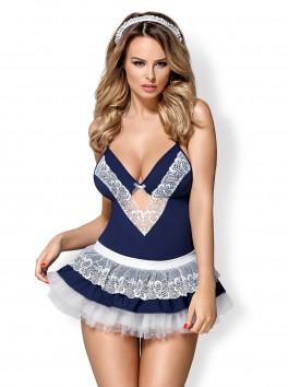 872-CST-6 - Costume modulable Soubrette - Bleu