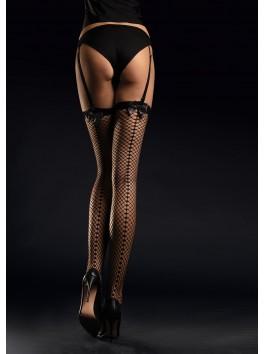 Satine fishnet Stockings 30 den - Black