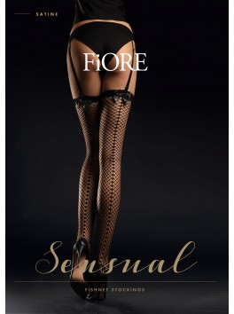 Satine fishnet Stockings 30 den - Black