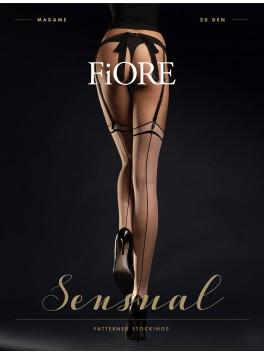 Madame Bas 20 den - Nude & Noir