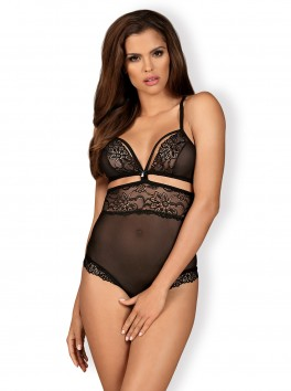 838-TED-1 Crotchless Teddy - Black