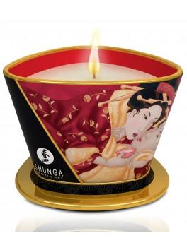 Bougie de massage lueur et caresses - romance vin