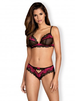 Tulia Set 2 pieces - Black & Fuchsia