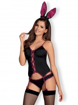 Bunny costume 4 pcs - Black