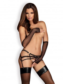 Catia Garter Belt - Black