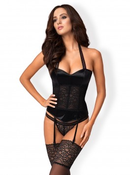 Ailay Corset with detachable garters - Black