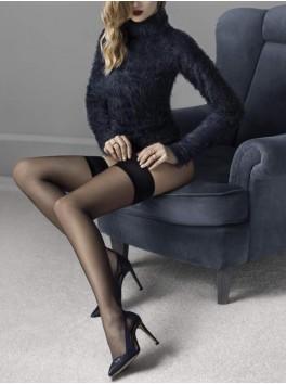 Bas Glam noir 20den sexy pour femmes fournisseur fiore