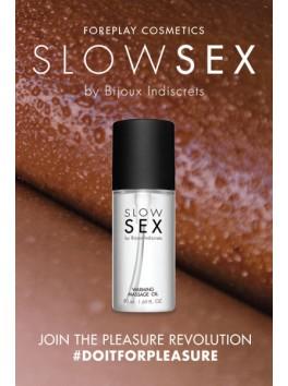 Huile de massage chauffante de la collection Slow Sex de Bijoux Indiscrets