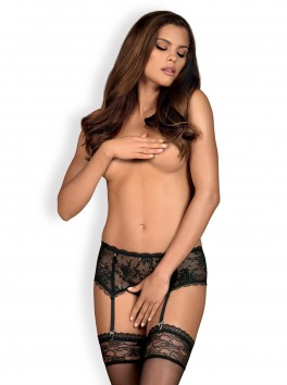 Behindy Garter Belt - Black