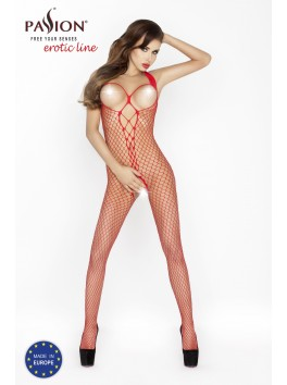 BS013b Bodystocking - Red
