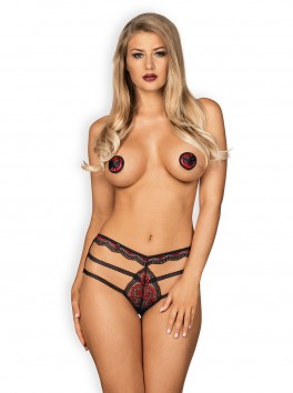 Megies nipple covers - Black and Red