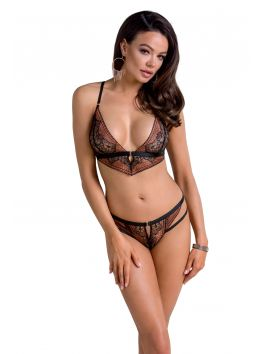 Mirella set of 3 pcs crothless - Black