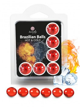 "6 Brazilian Balls ""Cold Hot effect"" 3629-1"