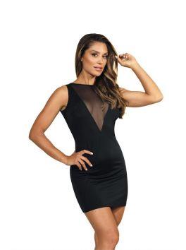 V-9129 Dress - Black