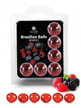 6 brazilian balls fruits des bois