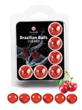 Box of 6 Brazilian balls Cherry 3560-6