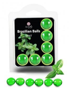 Boite 6 boules brésiliennes de massage erotique à la menthe