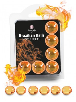 "Box of 6 brazilian balls ""Hot effect"" 3576"