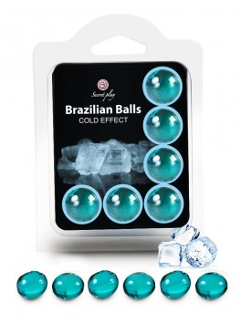"Box of 6 Brazilian Balls ""Cold effect"" 3614"
