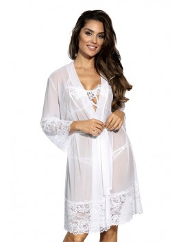 V-8850 Peignoir - White