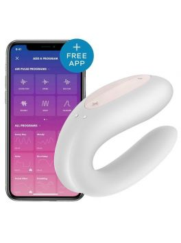 Satisfyer Double Joy Connected Stimulator for Couples - White