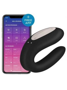 Satisfyer Double Joy Connected Stimulator for Couples - Black