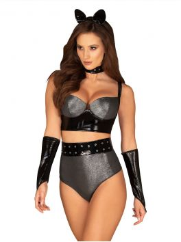 Sexy silver and black set of 6 pieces by Obsessive