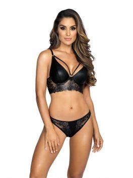 V-8621 bra semi corset - Black