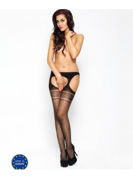 BS002 Garter Stocking - Black
