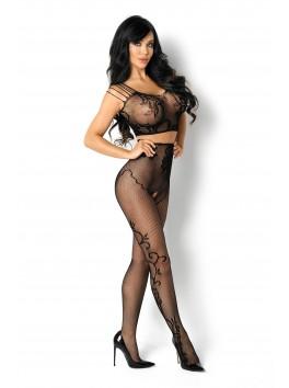 Bodystocking en maille noire Fernanda de la marque Beauty Night