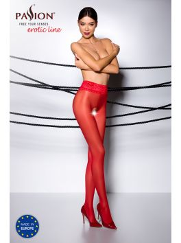 TI008R Collants ouverts - Rouge