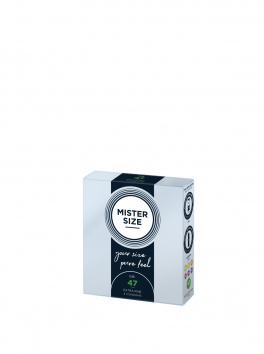 Pack of 3 condoms Mister Size - 7 sizes available
