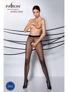 TIOPEN 009 Crotchless Tights 20 den - Black