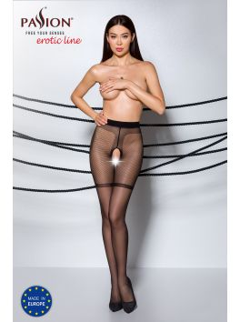 TIOPEN 011 Crotchless Tights 20 den - Black