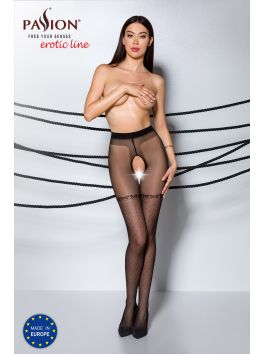 TIOPEN 014 Crotchless Tights 20 den - Black