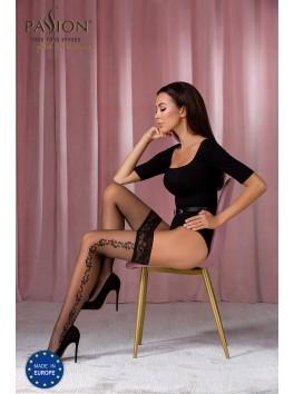Bas sexy noirs ST118 de la marque Passion Lingerie