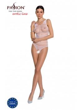 Body en maille blanche BS086 de la marque Passion Lingerie