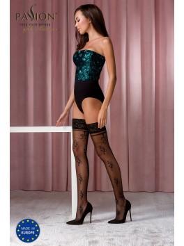 Bas sexy noirs ST119 de la marque Passion Lingerie