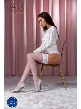 Bas sexy blancs ST118 de la marque Passion Lingerie